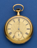 Timepieces:Pocket (post 1900), Omega 18k Gold 45 mm Pocket Watch. ...
