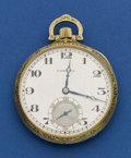Timepieces:Pocket (post 1900), Hamilton Heavy 14k Gold Grade 916. ...