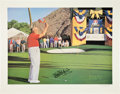 Movie/TV Memorabilia:Autographs and Signed Items, Bob Hope Signed Art Print.... (Total: 2 Items)