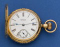Timepieces:Pocket (pre 1900) , Waltham Heavy 14k Gold 6 Size Hunters Case. ...