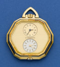 Timepieces:Pocket (post 1900), Longines Double Time Zone Watch. ...