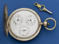 Timepieces:Pocket (pre 1900) , Swiss Coin Silver 57 mm Captains Watch. ...