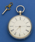 Timepieces:Pocket (pre 1900) , Swiss Center Seconds Lever Fusee. ...