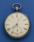 Timepieces:Pocket (pre 1900) , Swiss Sterling Lever Fusee For Parts Or Repair. ...