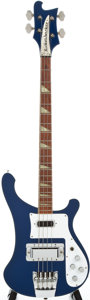 Musical Instruments:Bass Guitars, 1984 Rickenbacker 4001 Azureglo Electric Bass Guitar, #QI4014....