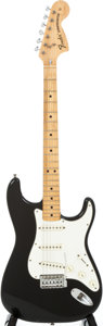 Musical Instruments:Electric Guitars, 1973 Fender Stratocaster Black Solid Body Electric Guitar,#524860....