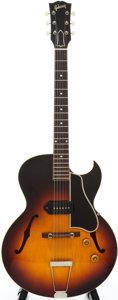 Musical Instruments:Electric Guitars, 1958 Gibson ES-225 Sunburst Semi-Hollow Body Electric Guitar,#T522222....