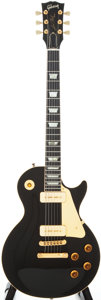 Musical Instruments:Electric Guitars, 1991 Gibson Les Paul 40th Anniversary Black Solid Body ElectricGuitar, #91551388....