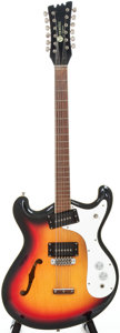 Musical Instruments:Electric Guitars, 1967 Mosrite Combo-12 Sunburst 12-String Semi-Hollow Body ElectricGuitar, #G0015....
