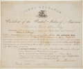 Autographs:U.S. Presidents, James Buchanan Appointment Signed as President.. ...