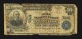 National Bank Notes:Kentucky, Pineville, KY - $10 1902 Plain Back Fr. 624 The Bell NB Ch. # 7215....