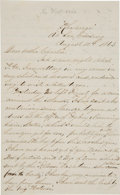Miscellaneous:Ephemera, [USS Kearsarge] Civil War Era Autograph Letter while atsea....