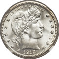Barber Quarters, 1913-S 25C MS67+ NGC....