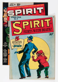 The Spirit #4 and 16 Group (Quality, 1945-49).... (Total: 2 Comic Books)