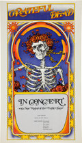 "Music Memorabilia:Posters, Grateful Dead ""Skull and Roses"" Allen Theater Concert Poster(1971)...."