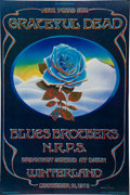 "Music Memorabilia:Posters, Grateful Dead ""Blue Rose"" New Year's Eve Winterland Concert Poster(Bill Graham, 1978)...."