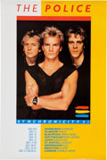 "Music Memorabilia:Posters, The Police ""Synchronicity"" UK Tour Poster (Roxanne Music Ltd.,1983)..."