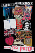 Music Memorabilia:Posters, Sex Pistols Never Mind the Bollocks Promo Poster (Warner Brothers,1977)....