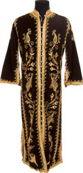 Music Memorabilia:Costumes, Elvis Presley Owned and Worn Full Length Brown Velour Robe (c.1960s)....