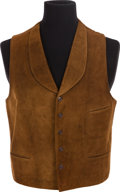 "Movie/TV Memorabilia:Costumes, A John Wayne Vest from ""Rio Bravo.""..."