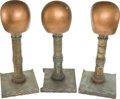 "Movie/TV Memorabilia:Memorabilia, A Group of Wig Stands from ""Cleopatra.""... (Total: 3 Items)"