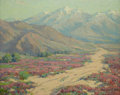 Fine Art - Painting, American:Modern  (1900 1949)  , BENJAMIN CHAMBERS BROWN (American, 1865-1942). Wild Verbenas,Colorado Desert near Palm Springs. Oil on canvas. 16 x 20 ...