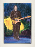 "Music Memorabilia:Posters, Eric Clapton ""Let It Rain"" Limited Edition Printer's ProofLithograph Print #22/30 (undated)...."