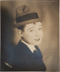 Movie/TV Memorabilia:Autographs and Signed Items, A Harry Langdon Sepia Signed Photograph, Circa 1920s....
