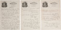 Movie/TV Memorabilia:Memorabilia, A Harry Houdini Handwritten Letter, 1923.... (Total: 3 Items)