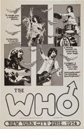 Music Memorabilia:Posters, The Who New York City Concert Poster (1974)....