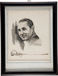 Movie/TV Memorabilia:Autographs and Signed Items, A Robert Ripley Signed Sketch....