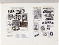 Music Memorabilia:Original Art, The Sex Pistols Original Advertising Art....