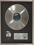 Music Memorabilia:Awards, Michael Jackson Thriller RIAA Platinum Album Award andPaperweight....