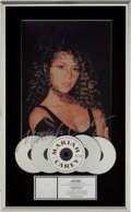 Music Memorabilia:Awards, Mariah Carey RIAA Multi-Platinum Album Award....