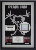 Music Memorabilia:Awards, Pearl Jam Ten RIAA Multi-Platinum Album Award....