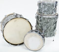 Musical Instruments:Drums & Percussion, 1950s Slingerland Black Pearl 4-Piece Drum Set...