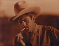 Movie/TV Memorabilia:Autographs and Signed Items, A Gary Cooper Signed Sepia Photograph to Henry Hathaway, 1930s....