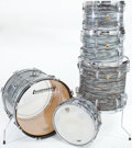 Musical Instruments:Drums & Percussion, 1967-1968 Ludwig Green Oyster Pearl 5-Piece Drum Set...
