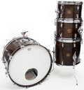 Musical Instruments:Drums & Percussion, 1970s Gretsch Walnut 4-Piece Drum Set...