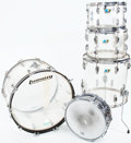 Musical Instruments:Drums & Percussion, 1970s Ludwig Clear Vistalite 5-Piece Drum Set...