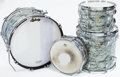 Musical Instruments:Drums & Percussion, 1967 Ludwig Gray Oyster Pearl 4-Piece Drum Set...