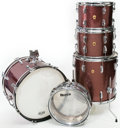 Musical Instruments:Drums & Percussion, 1967 Ludwig Burgundy Sparkle 5-Piece Drum Set...