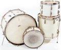 Musical Instruments:Drums & Percussion, Circa 1939 Radio King White Marine Pearl Drum Set...