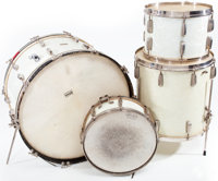 Circa 1939 Radio King White Marine Pearl Drum Set
