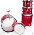 Musical Instruments:Drums & Percussion, 1970s Ludwig Red Vistalite 5-Piece Drum Set...