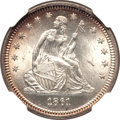 Seated Quarters, 1861 25C MS65 NGC....