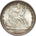 Seated Half Dollars, 1861 50C MS66 PCGS. CAC....