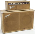 Musical Instruments:Amplifiers, PA, & Effects, 1963 Fender Bassman Blonde Guitar Amplifier and Cabinet, Serial #BP06691...