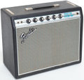 Musical Instruments:Amplifiers, PA, & Effects, 1968 Fender Princeton Reverb Black Guitar Amplifier, Serial # A22346...