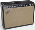Musical Instruments:Amplifiers, PA, & Effects, 1965 Fender Pro Reverb Black Guitar Amplifier, Serial # A00379...